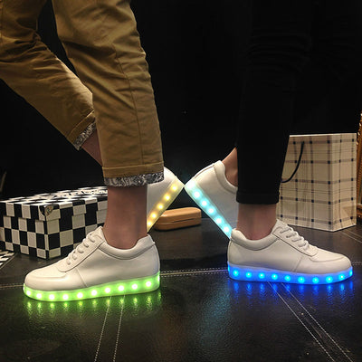 Glow Led Light Up Shoes green blue side