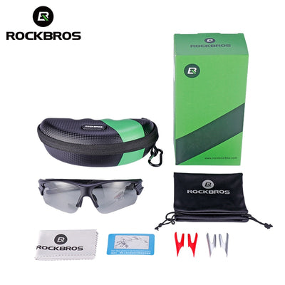 Photochromic Sports Sunglasses inclusion set