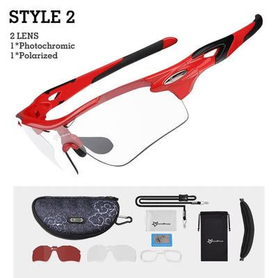 Photochromic Sports Sunglasses style 2 red side