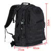 ARMY MILITARY TACTICAL RUCKSACK BACKPACK BAG - Black with dimensions