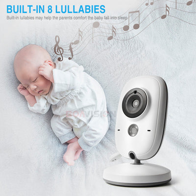 3.2 Inch Wifi Audio Video Baby Monitor built in lullabies