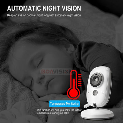 3.2 Inch Wifi Audio Video Baby Monitor night vision