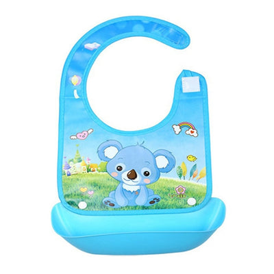 Food Catcher Plastic Baby Bib With Pocket