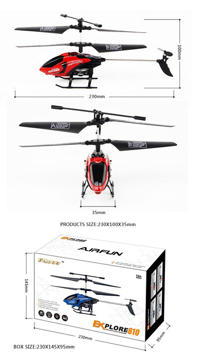Best Remote Control Electric RC Toy Helicopter - size