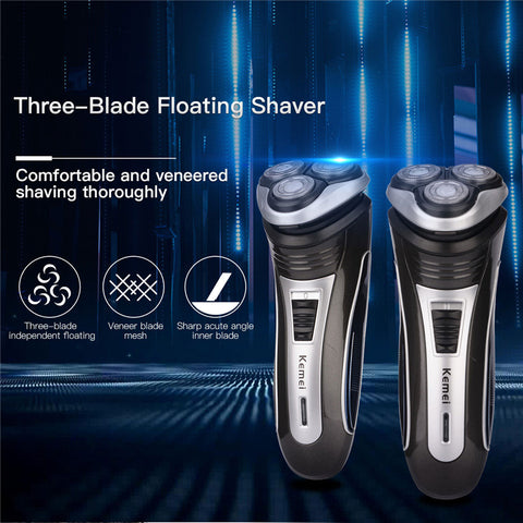 Rechargeable Triple Floating Blade Head Shaver uses