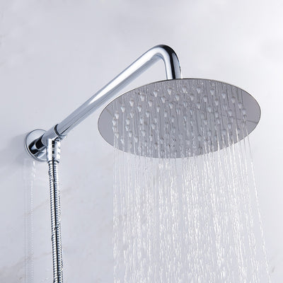 high flow rain shower head waterfall round variant