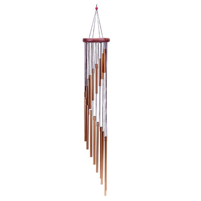 Brown Antique Wind Chimes copper front view