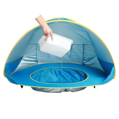 Ultimate Pop Up Baby Beach Tent with pool