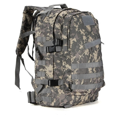 ARMY MILITARY TACTICAL RUCKSACK BACKPACK BAG - Light black camoflauge