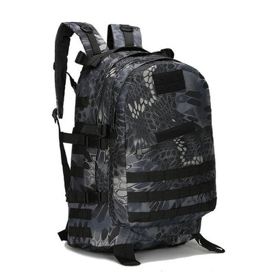 ARMY MILITARY TACTICAL RUCKSACK BACKPACK BAG - Black camouflage
