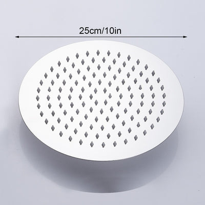 high flow rain shower head waterfall size diameter