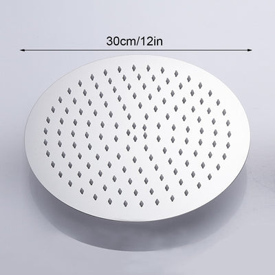 high flow rain shower head waterfall larger rounded variant