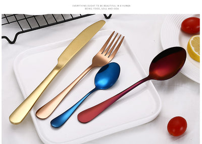 Best Stainless Steel Modern Cutlery Set different color set