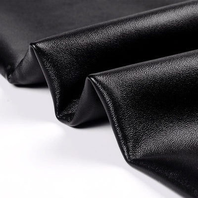 Elastic High Waist Black Leggings fabric close up