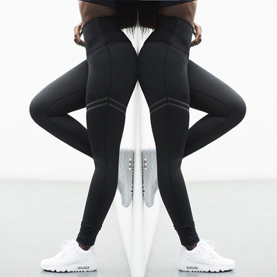 Quick Drying Fitness Workout Leggings black