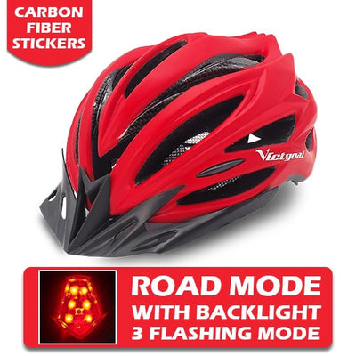 mountain bike helmets front red