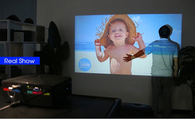 Mini Home Theater HD LED Projector real test sample