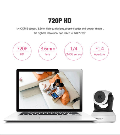 Smart Camera with Motion Sensor WiFi Baby Monitor 720HD