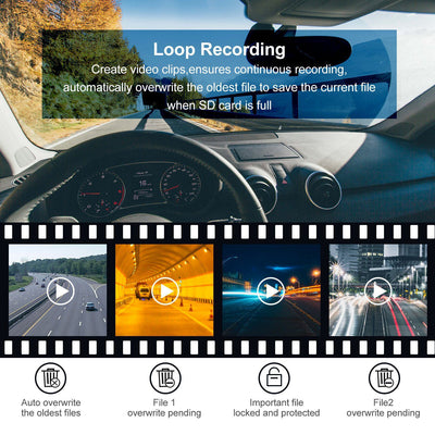 FRONT AND REAR DUAL CAR DASH CAM SURVEILLANCE loop record
