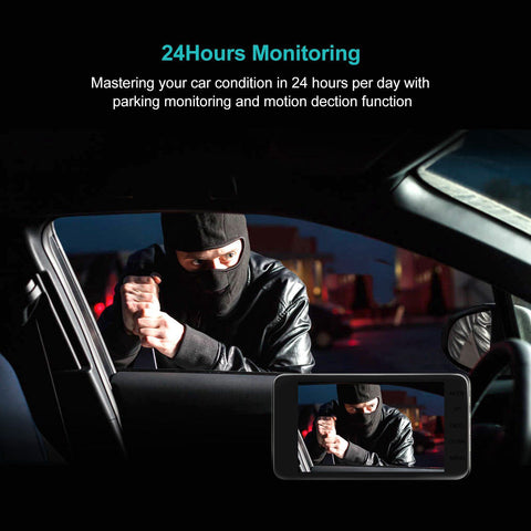 FRONT AND REAR DUAL CAR DASH CAM SURVEILLANCE anti steal
