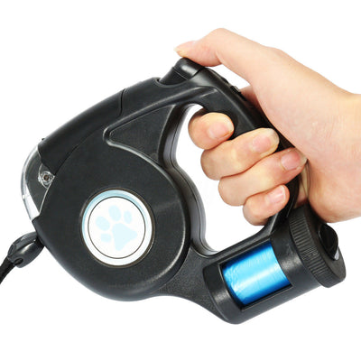 Retractable Dog Leash With Light Flashlight