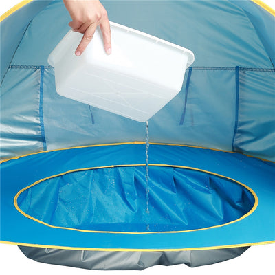 Ultimate Pop Up Baby Beach Tent close up water