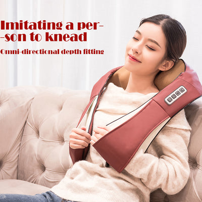 Infrared Back Neck Shoulder Massager women relax