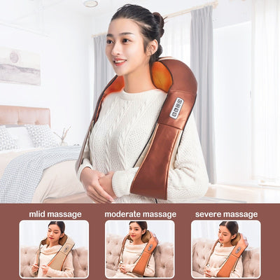 Infrared Back Neck Shoulder Massager applying different parts of the body