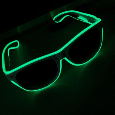 Luminous Party LED Glasses blue green glow