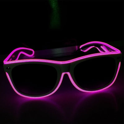 Luminous Party LED Glasses purple glow