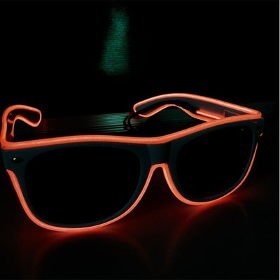 Luminous Party LED Glasses neon orange