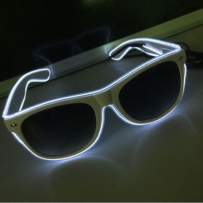 Luminous Party LED Glasses white glow