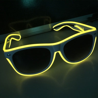 Luminous Party LED Glasses yellow glow