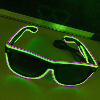 Luminous Party LED Glasses yellow green