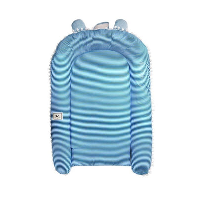 Portable Travel Baby Lounger Bumper blue