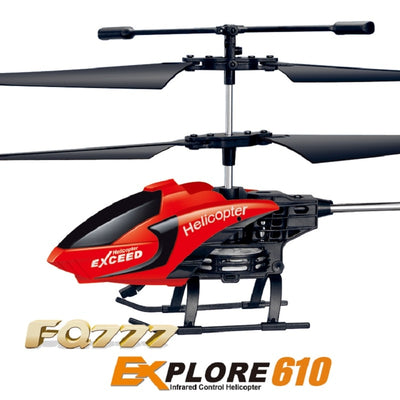 Best Remote Control Electric RC Toy Helicopter- red close up