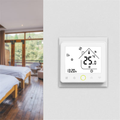 Programmable Smart Wifi Home Thermostat on the wall