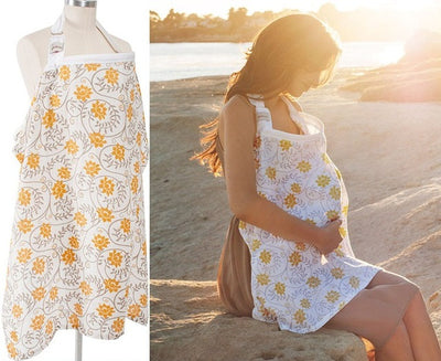 Breathable Nursing Cover yellow
