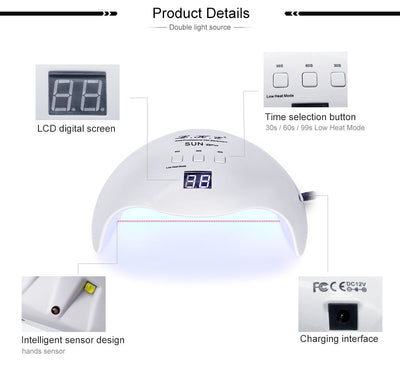 UV LED Nail Dryer lamp Product details