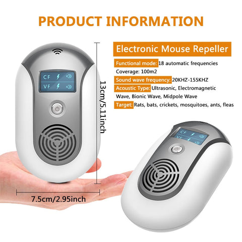 Electronic Ultrasonic Pest Repeller To Keep Insects and Creatures Away product specs
