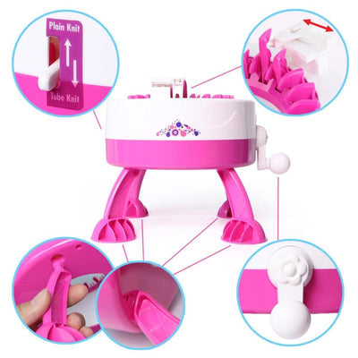 Plastic Needle Knitting Toy Machine functions
