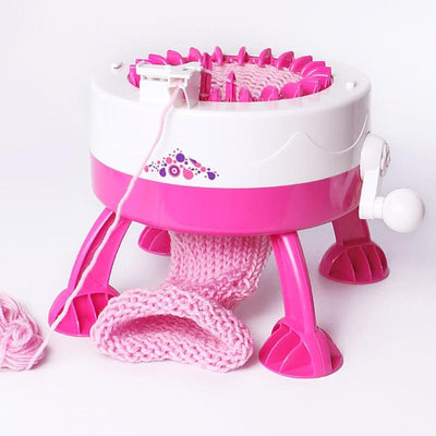 Plastic Needle Knitting Toy Machine side
