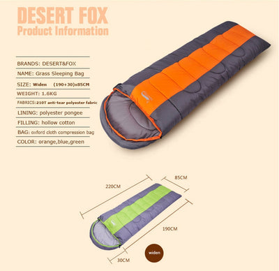 Waterproof Compact Sleeping Bag dimensions and features