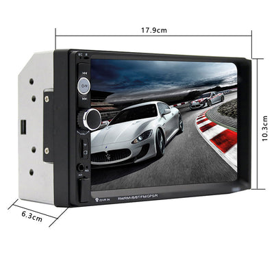 Touch Screen Double Din Car Radio Stereo dimensions