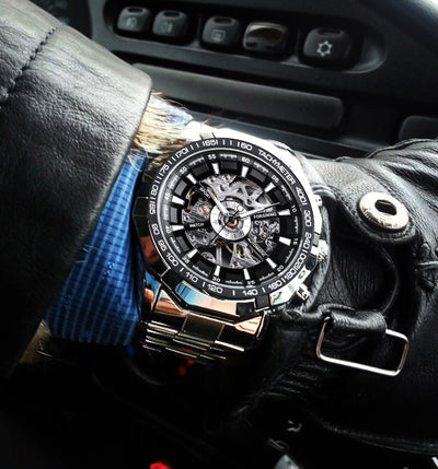 tainless Steel Waterproof Mens Skeleton Watches sample