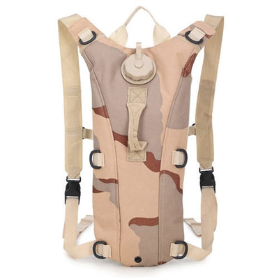 Hydration Water Drink Hiking Backpack design 6 camouflage pale brown