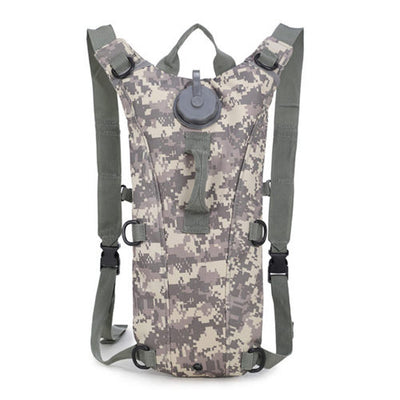 Hydration Water Drink Hiking Backpack design 5 camouflage white
