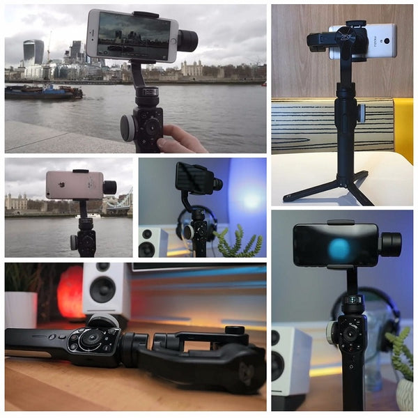 3-axis Handheld Gimbal Stabilizer different uses