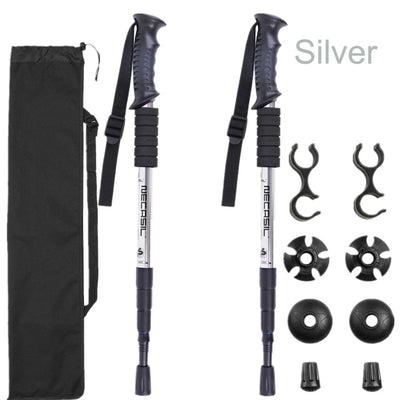 Trekking Hiking Stick Poles silver variant with changeable features