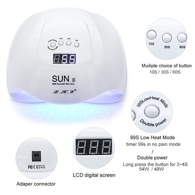 UV LED Nail Dryer lamp features LCD screen